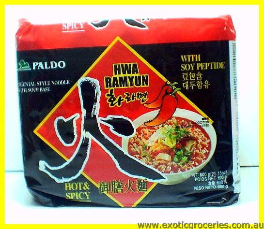 Hwa Ramyun Oriental Noodle With Hot Spicy Soup Base