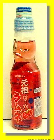 Ramune Carbonated Soft Drink Strawberry Flavor