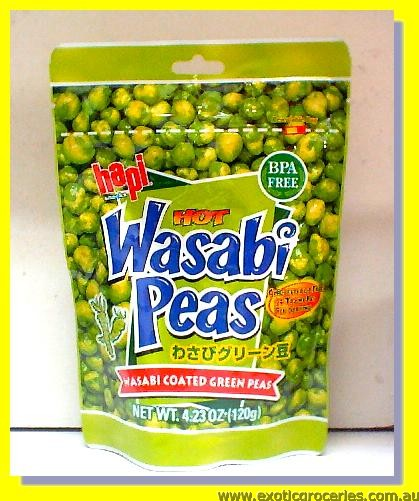 Hot Wasabi Peas (Wasabi Coasted Green Peas)