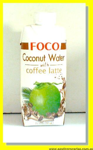 Coconut Water with Coffee Latte