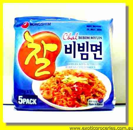 Chal Bibim Myun Noodles with Korean Chilli Sauce 5packs