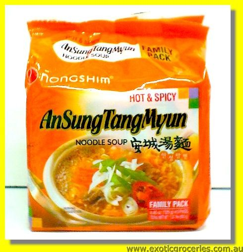 An Sung Tang Myun Noodle Soup Hot & Spicy 5pkts