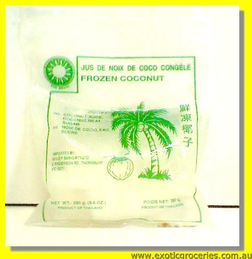 Frozen Coconut Juice with Meat