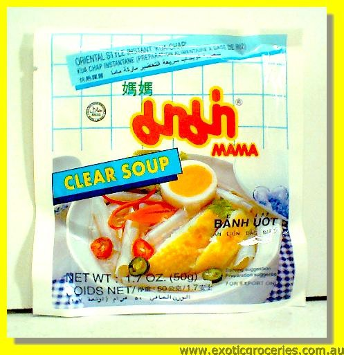 Oriental  Style Clear Soup Rice Flake