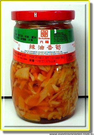 Salted Bamboo Shoot (Stripped) in Chili Oil