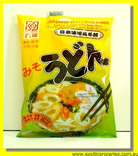 Japan Style Miso U-Don Noodles