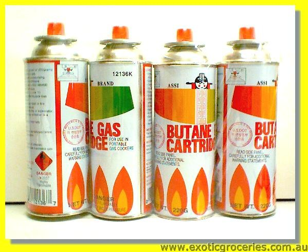 Butane Gas Cartridge 4cans