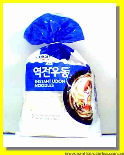 Udon Korean Style Noodle with Soup Base 3pcs