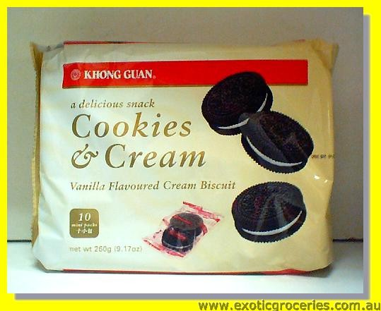 Cookies& Cream Vanilla flavoured Cream Biscuit (10 mini packs)