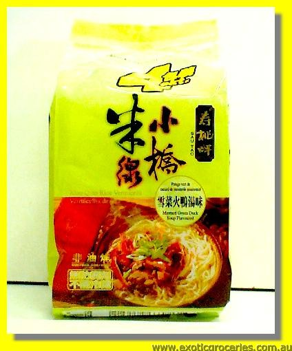 Xiao Qiao Rice Vermicelli Mustard Green Duck Soup Flavoured 4pkt