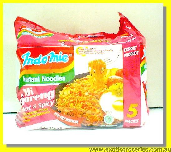 Mi Goreng Pedas Hot & Spicy Flavour 5packs