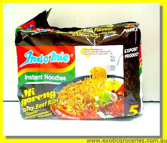 Mi Goreng Spicy Beef Ribs Stir Fry Noodles 5packs