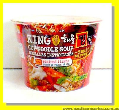 King Cup Noodle Soup Spicy Seafood Flavour