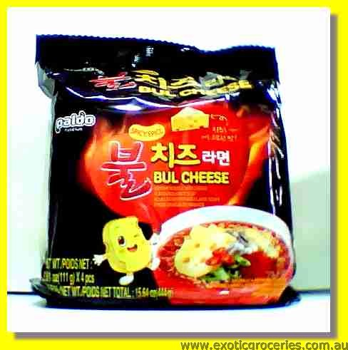 Bul Cheese Instant Noodle with Cheese Flavoured Spicy Soup 4pkts