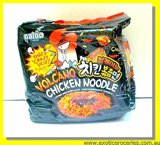 Volcano Chicken Noodle Hot & Spicy 4packs
