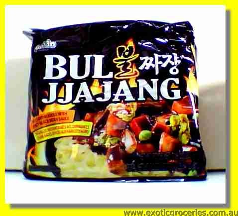 Bul Jjajang Instant Noodle with Spicy Black Bean Sauce 4packs