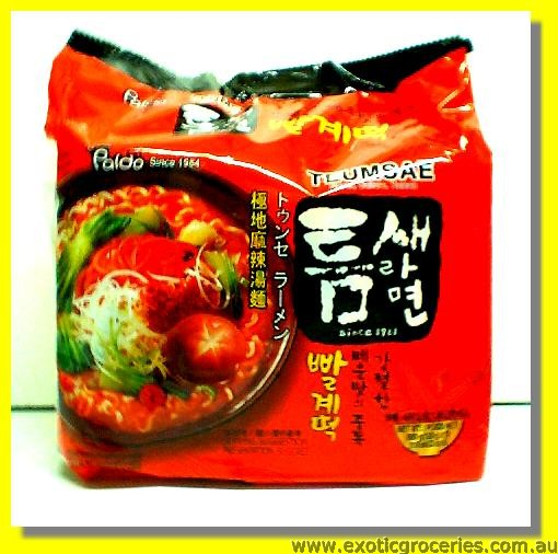 Teumsae Instant Noodle Hot & Spicy 5pkts