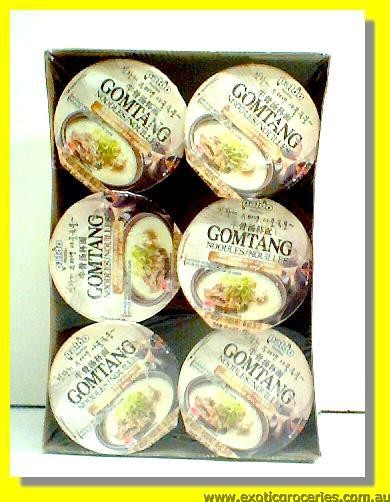 Gomtang Instant Cup Noodle 6cups Beef Flavour with Vegetable Sou