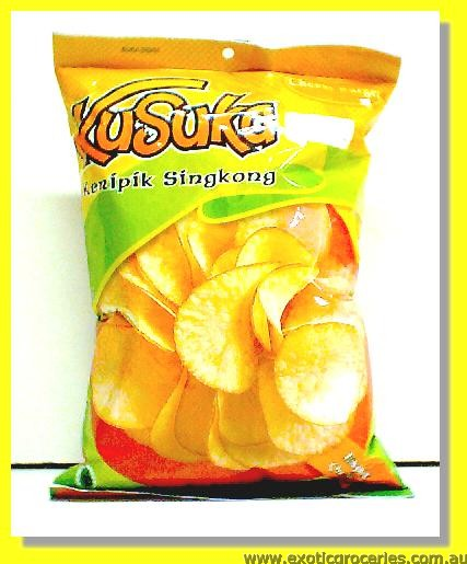 Cassava Chips Cheese Burger Flavour