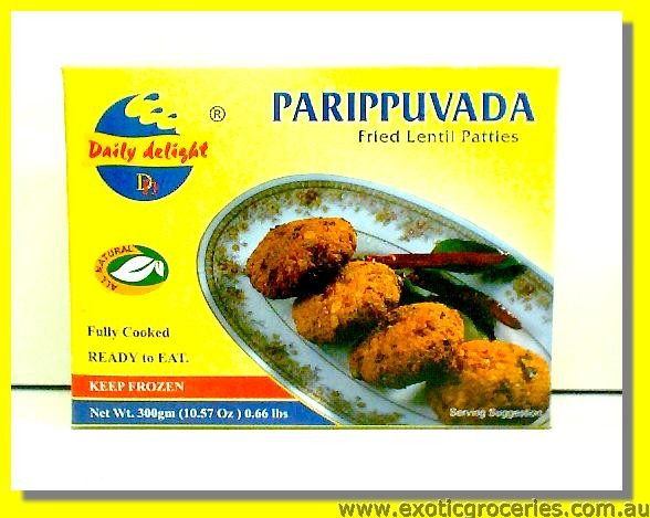 Frozen Fried Lentil Patties Parippuvada (Ready to Eat)