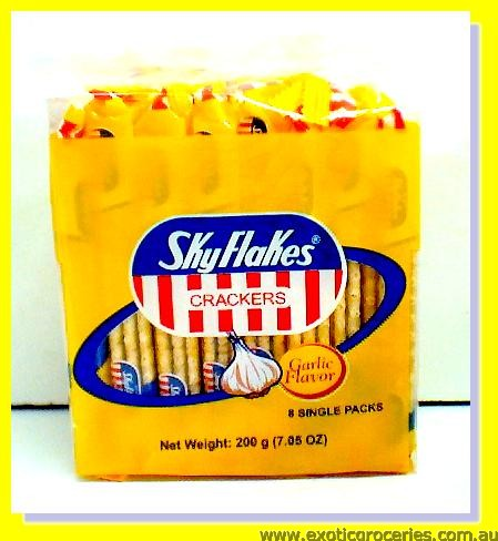 Sky Flakes Crackers Garlic Flavour
