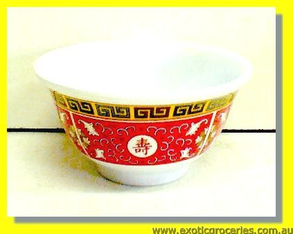 Red Melamine Bowl 3.75in 3008TR