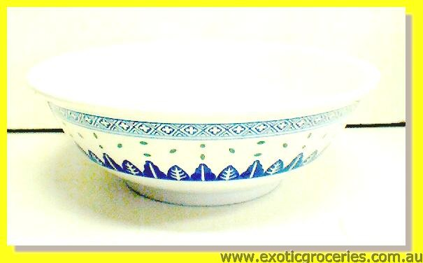 Blue Melamine Bowl 5075TM Rice Pattern 22cm
