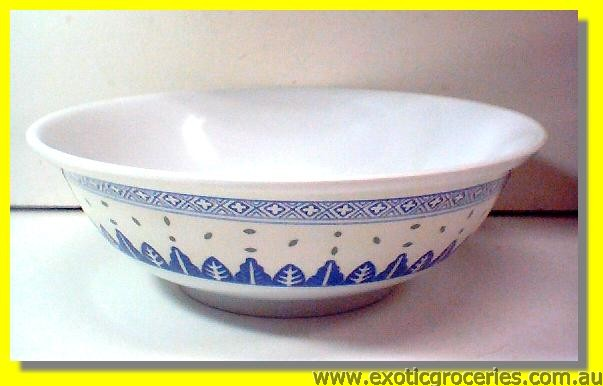 Blue Melamine Bowl Rice Pattern 5085TM 9.75""
