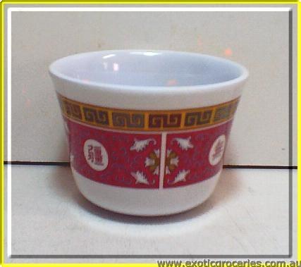 Red Melamine Tea Cup 9152TR