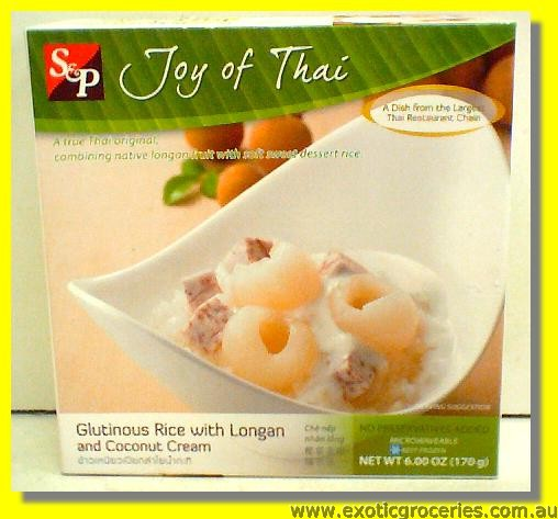 Glutinous Rice with Longan and Coconut Cream