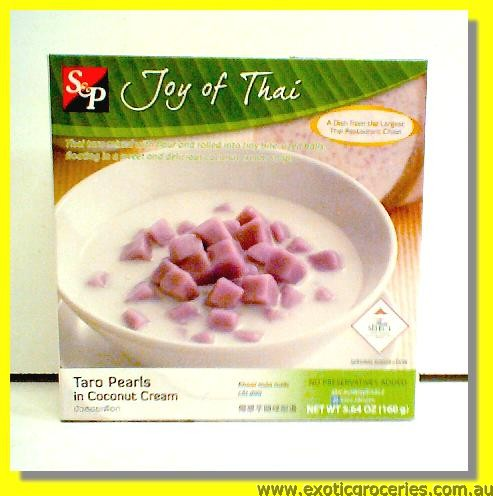 Taro Pearls in Coconut Cream