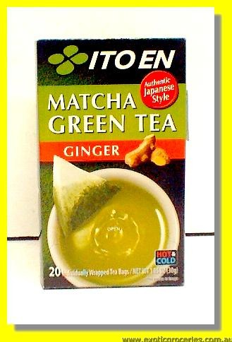 Matcha Green Tea Ginger Flavour 20teabags
