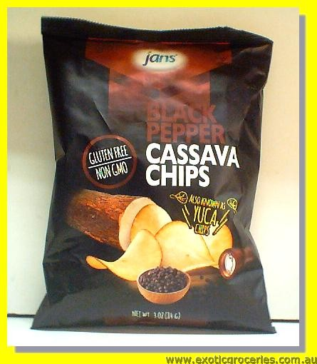 Black Pepper Cassava Chips