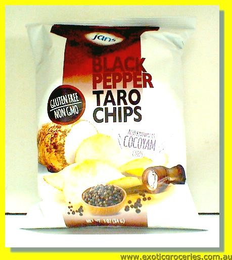 Black Pepper Taro Chips (Gluten Free)