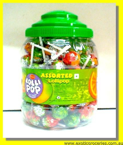 Assorted Lollipop (Lychee Flavour, Orange Flavour & Green Mango