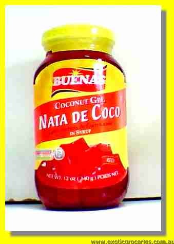 Red Coconut Gel Nata De Coco in Syrup