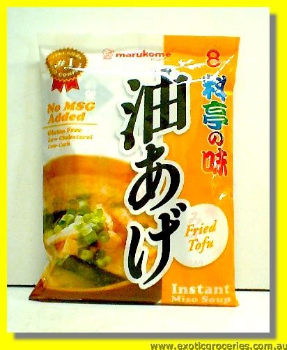 Instant Miso Soup Fried Tofu 8 Servings