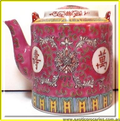 Red Longevity Tall Teapot #30 2328