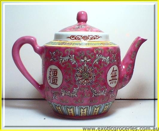 Red Longevity Tall Teapot 12cm 8103 (#2)