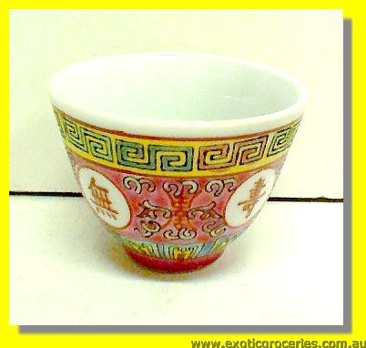 Red Longevity Tea Cup