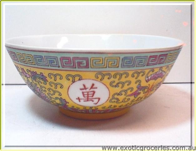 Yellow Longevity Bowl 7in