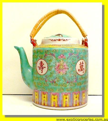 Green Longevity Tall Teapot #50