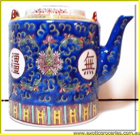 Blue Longevity Tall Teapot #30 2326