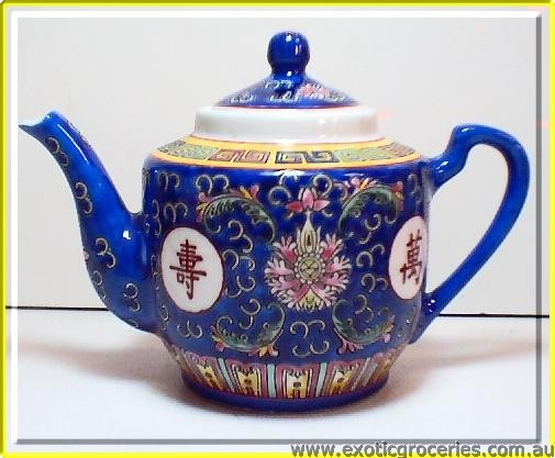 Blue Longevity Tall Teapot #3 8404