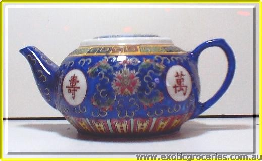 Blue Longevity Persimmon Teapot #3 2316