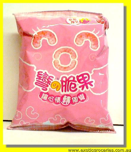 Corn Snack Strawberry Flavour