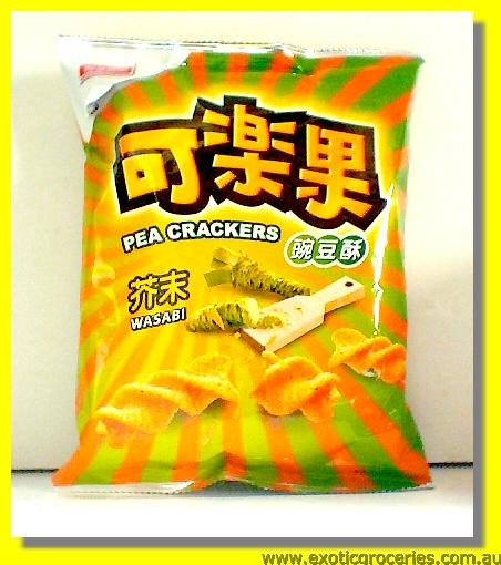 Pea Crackers Wasabi Flavour