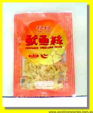 Prepared Shredded Squid Hot Flavour