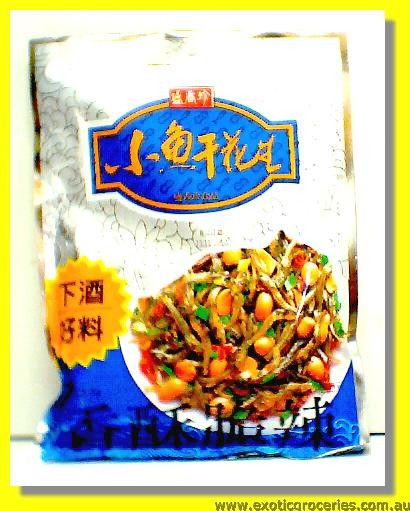 Dried Small Fish & Peanut Snack