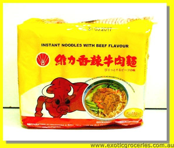 Instant Noodles with Beef Flavour 5pkts